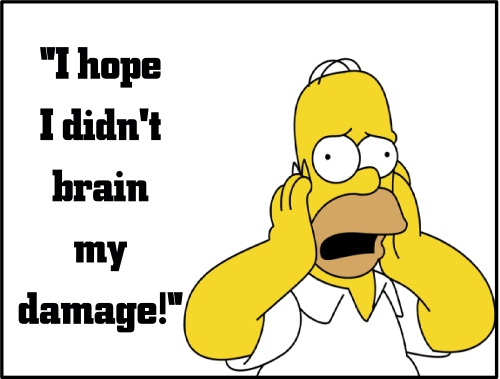 homer brain my damage