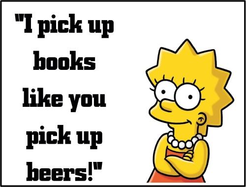 lisa simpson book n beers