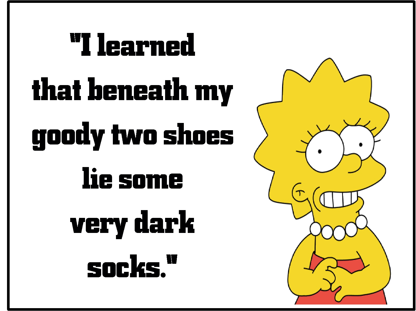 The Logic Of Lisa Comically Quirky