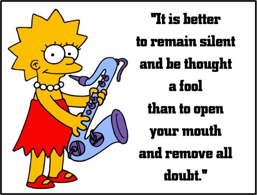 lisa simpson silent fool