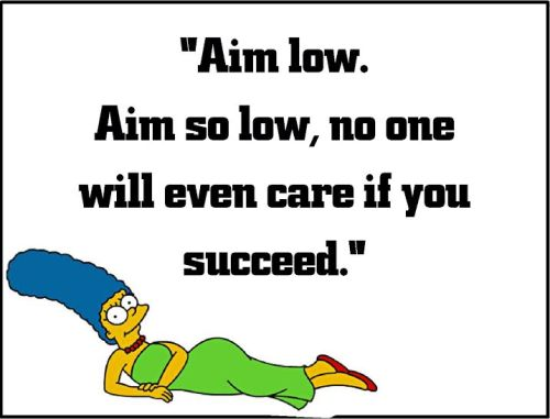 marge simpson aim low