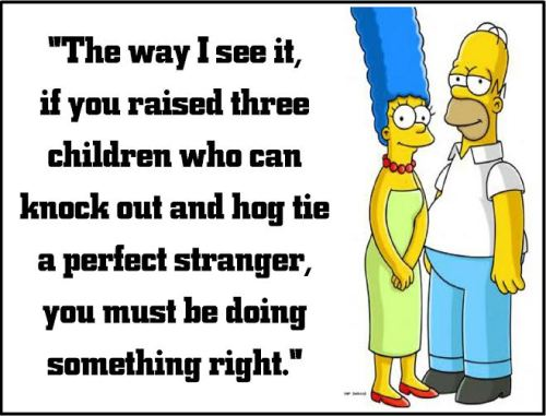 marge simpson doing something right
