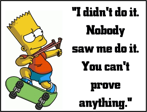 bart simpson can't prove anythi