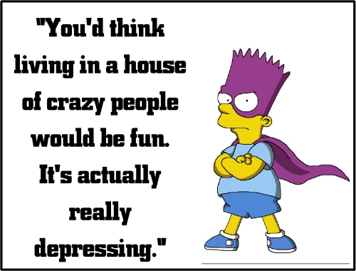 bart simpson crazy people