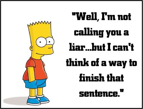 bart simpson liar