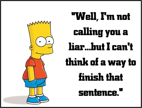 bart simpson liar