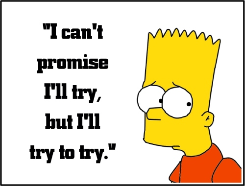 bart simpson try to try