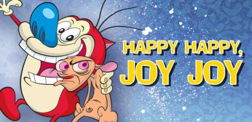 What better way to celebrate Comically Quirky's anniversary than with Ren and Stimpy's Happy Happy Joy Joy song!
