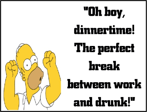 homer simpson dinner time