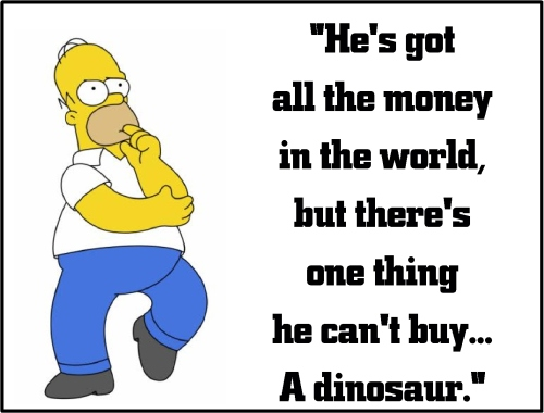 homer simpson dinosaur