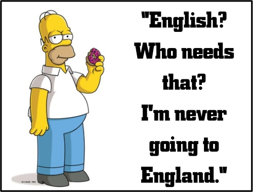 homer simpson english