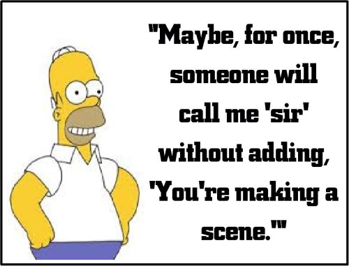 homer simpson making a scene