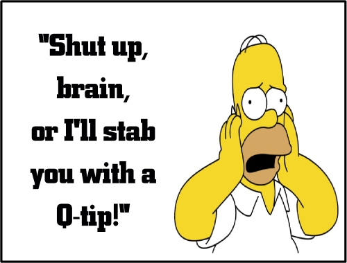 homer simpson shut up brain