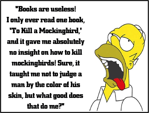 homer simpson to kill a mocking