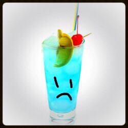 Why so sad, little drink? Is it because you've been waiting so long to be served that you're crying tears of condensation? Yeah, me too.